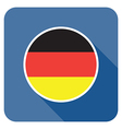 flat germany icon vector image