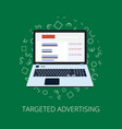 flat style web banner modern digital marketing vector image vector image