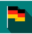 Germany flag flat icon vector image vector image