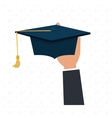 graduate student with isolated icon design vector image vector image