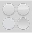 gray plastic buttons 3d round signs - normal vector image vector image