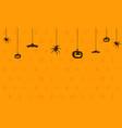 happy halloween on orange background vector image vector image