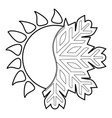 hot cold icon outline style vector image vector image