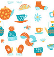 hygge seamless pattern in cute vector image vector image