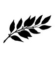 laurel branch silhouette vector image