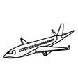 line travel airplane fight international transport vector image vector image