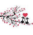 love cats tree vector image vector image