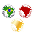 made in Brazil stamp vector image vector image