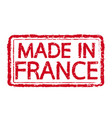 made in france stamp text vector image