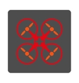 Medical Drone Flat Button vector image vector image