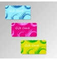 modern three gift cards vector image vector image