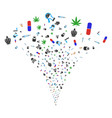 narcotic drugs fountain stream vector image vector image