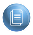 office paper icon outline style vector image vector image