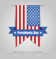 on the day of president a gray background vector image vector image