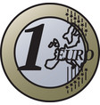 one european union euro coin vector image