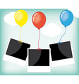 photo frame with colorful balloons vector image vector image