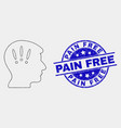 pixel headache icon and scratched pain free vector image vector image