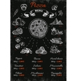 Pizza Hand Drawn Menu vector image vector image