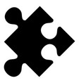 puzzle piece flat icon vector image