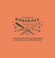 sans serif font and emblem baseball team vector image vector image