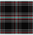 seamless pattern Scottish tartan black vector image
