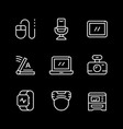 set line icons gadget vector image vector image