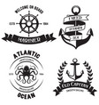 set sea and nautical decorations isolated on vector image vector image