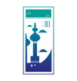 silhouette moscow site travel ticket vacation vector image vector image