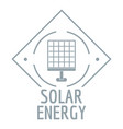 solar energy logo simple gray style vector image