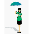 Students holding an umbrella vector image vector image