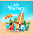 summer background 2018 3 vector image vector image