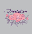 tender pink peony flower bouquet vector image