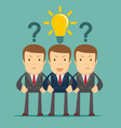 three hard thinking men vector image