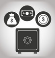 box safe money bank currency coin banking vector image