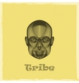 graphic evgraved of a black african tribe man face vector image