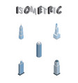 isometric construction set of cityscape vector image
