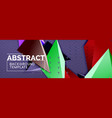 3d triangular minimal abstract background vector image vector image
