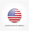 american flag in a circle on a white gray vector image vector image