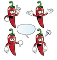 Angry chili pepper set vector image vector image