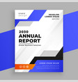 annual report blue business brochure template vector image vector image