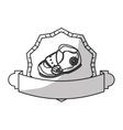 baby shoe icon vector image