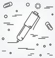 ball pen isolated iconball pen isolated icon vector image