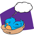 bird with thought bubble vector image vector image