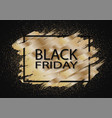black friday sale gold glitter background vector image vector image