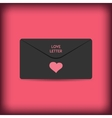 Black stylish love envelope Elegant passion vector image