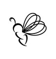 butterfly or bee line art logo and icon