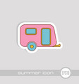camping trailer icon summer vacation vector image