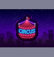 Circus neon sign design template neon style logo
