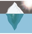 Cold Iceberg in Ocean Under Sun Shine vector image