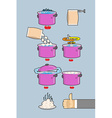 Cooking dumplings instruction in Picture Cooking vector image vector image